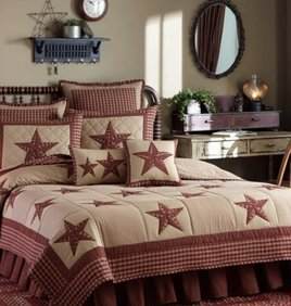 Park Designs Sturbridge Patch Bedding Collection - Wine