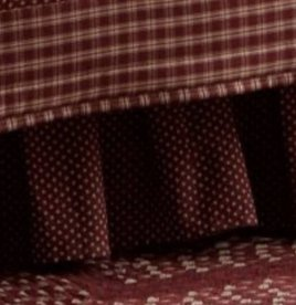 Sturbridge Patch Bed Skirt - Wine
