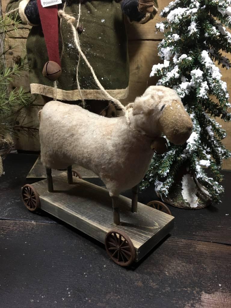 Arnett's Santa  with Sheep On Wheels KC6