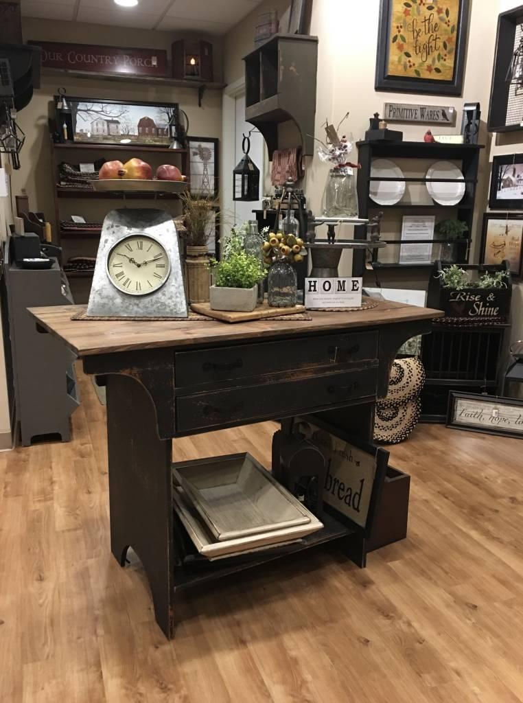 Country Primitive Kitchen Island Country Furniture