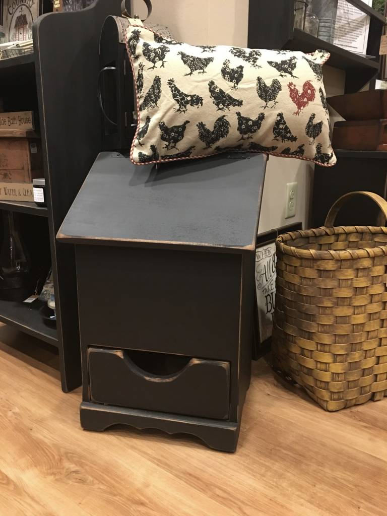 small trash can holder with drawer country kitchen. Black Bedroom Furniture Sets. Home Design Ideas