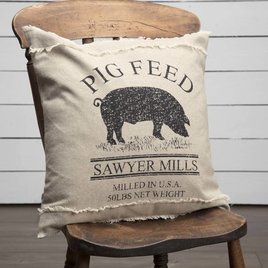 VHC Brands Sawyer Mill Pig Pillow