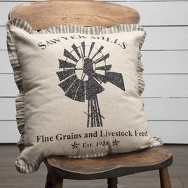 VHC Brands Sawyer Mill Windmill Pillow