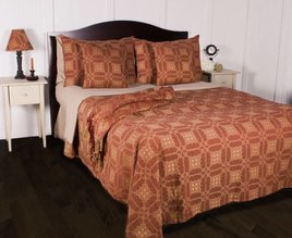 Smithfield Jacquard Queen Bed Cover - Red