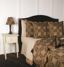 Smithfield Jacquard King Bed Cover - Black