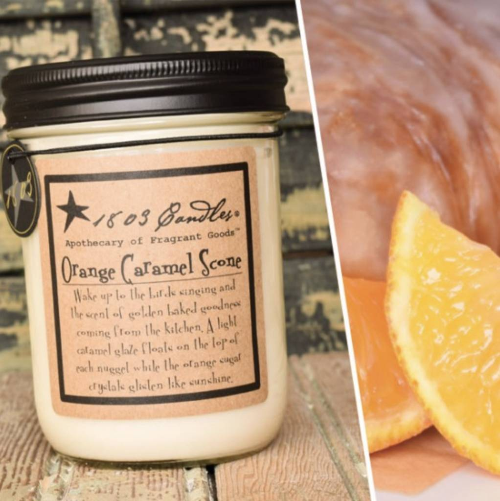 1803 Candles 1803 Candle Orange Caramel Scone 14oz