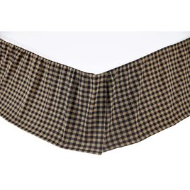 VHC Brands Black Check Bed Skirt
