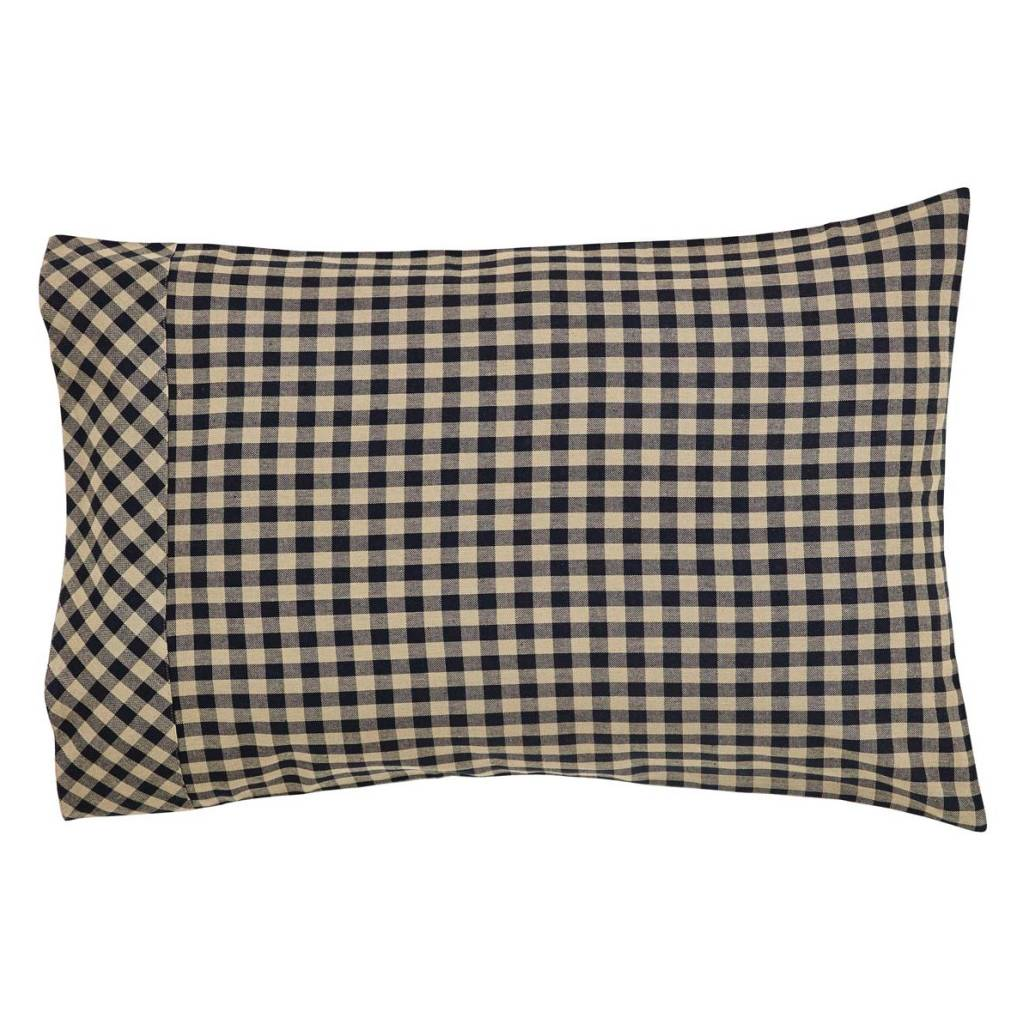 Black Check Pillow Case Set of 2