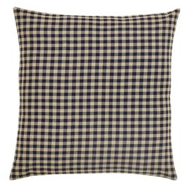 VHC Brands Black Check Fabric Euro Sham
