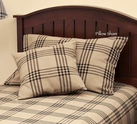 Home Collections By Raghu Chesterfield Check Black Pillow Sham