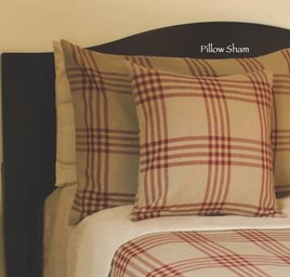 Chesterfield Check Barn Red Pillow Sham