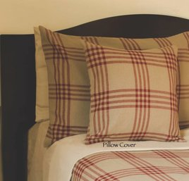 Chesterfield Check Barn Red Pillow Cover
