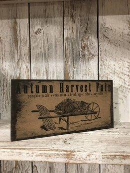 Autumn Harvest Fair Block Sign
