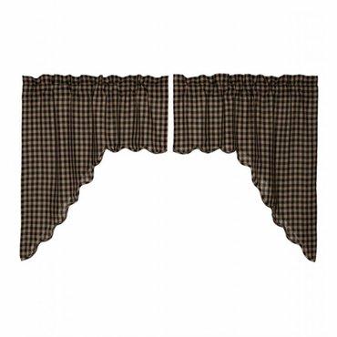 Black Check Curtains