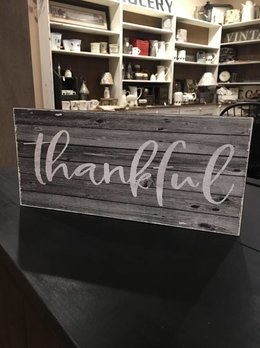 Thankful Sign Gray Background