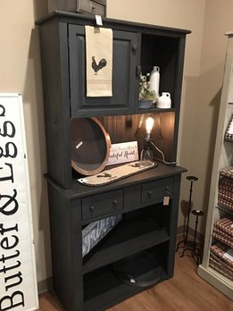 Gray Farmhouse Cabinet Hutch