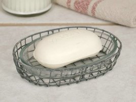 Oval Soap Dish W/Glass