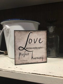 Love-Harmony Block Sign