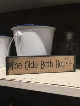 The Olde Bath House Block Sign