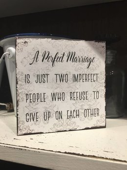 A Perfect Marriage Block Sign