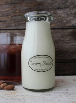 Milkhouse Candles Cranberry Amaretto 8 oz. Milk Bottle