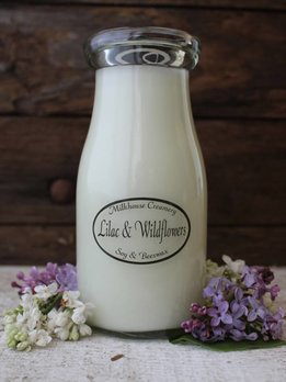 Milkhouse Candles Lilac & Wildflowers 8oz Milk Bottle
