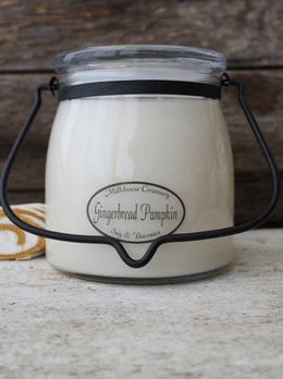 Milkhouse Candles Gingerbread Pumpkin 16oz Butter Jar