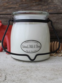 Milkhouse Candles Oatmeal, Milk & Honey 16oz Butter Jar