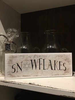 Snowflakes Block Sign