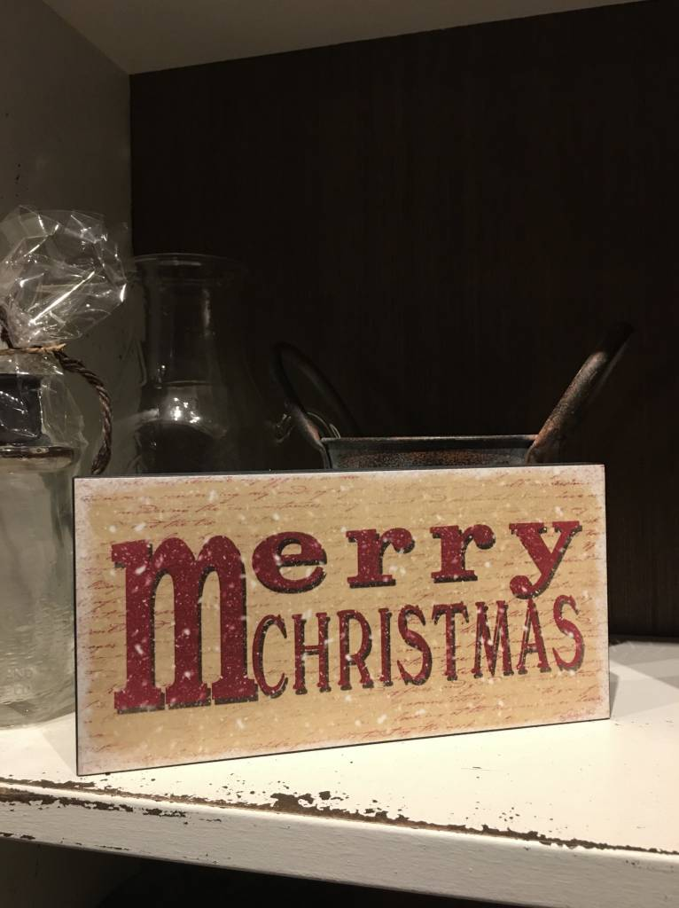 m for merry christmas block sign - Merry Christmas Decorative Blocks