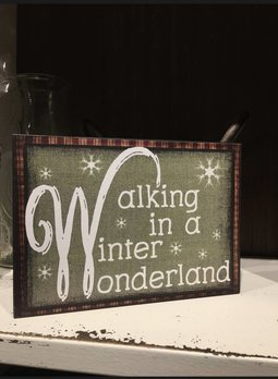 Walking In A Winter Wonderland Block Sign