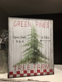 Green Pines Tree Farm Sign