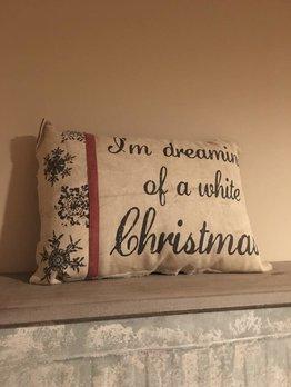 White Christmas Pillow
