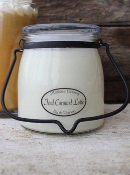 Milkhouse Candles Iced Caramel Latte 16oz Butter Jar