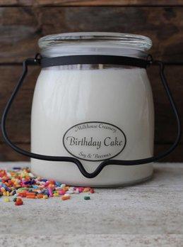 Milkhouse Candles Birthday Cake 16oz Butter Jar