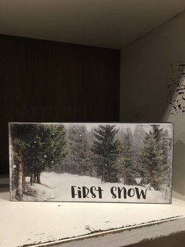 First Snow Block Sign
