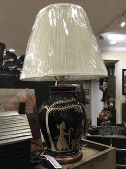 Turtle Creek American Redware Lamp Black