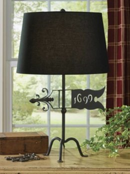 1699 Weathervane Lamp with Shade