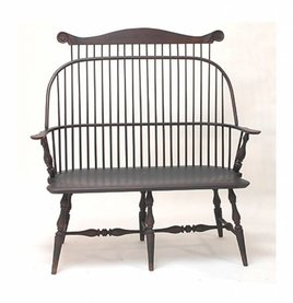 Lawrence Crouse Workshop Sack Back Settee with Crest Rail
