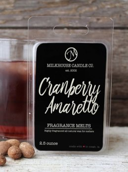 Milkhouse Candles Cranberry Amaretto 2.5oz Melt Milkhouse