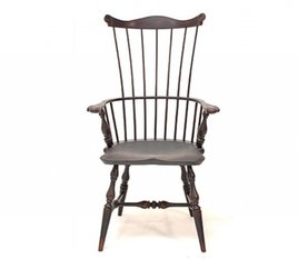 Lawrence Crouse Workshop New England Fan Back Arm Chair (Shield Seat)