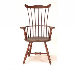 Lawrence Crouse Workshop Pennsylvania Fan Back Arm Chair (Oval Seat)