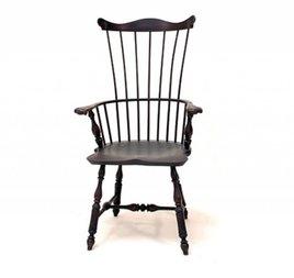 Lawrence Crouse Workshop Pennsylvania Fan Back Arm Chair (Shield Seat)