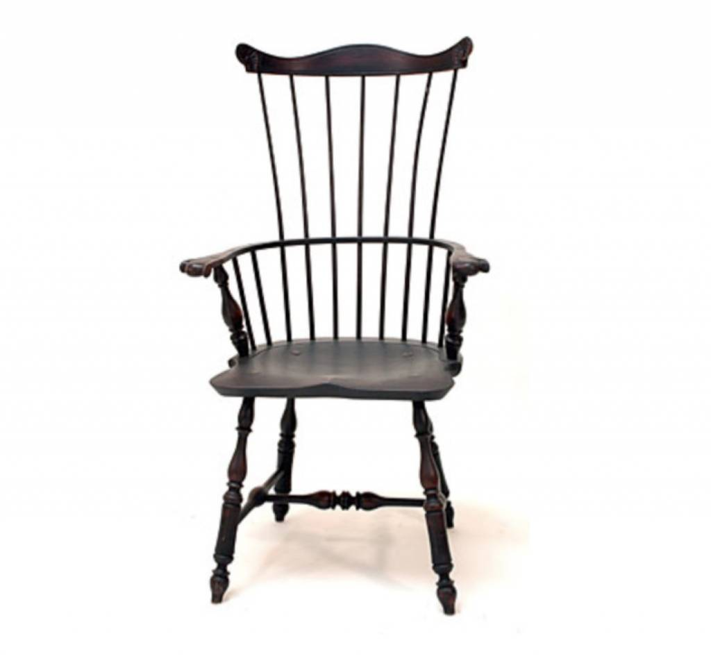 Lawrence Crouse Workshop Pennsylvania Fan Back Arm Chair (Shield Seat) ...