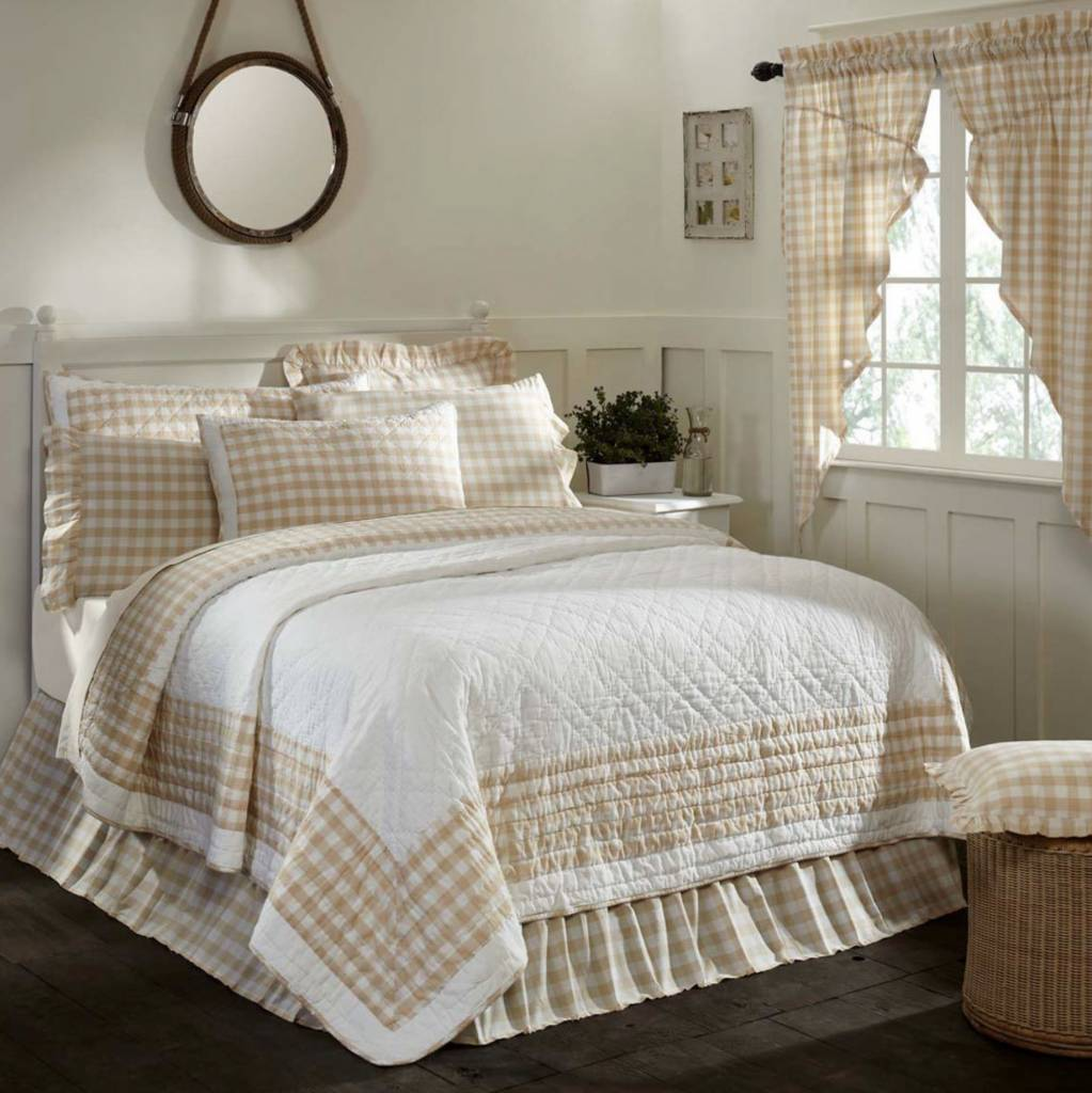 VHC Brands Annie Buffalo Check Quilt Collection Choose from 3 colors