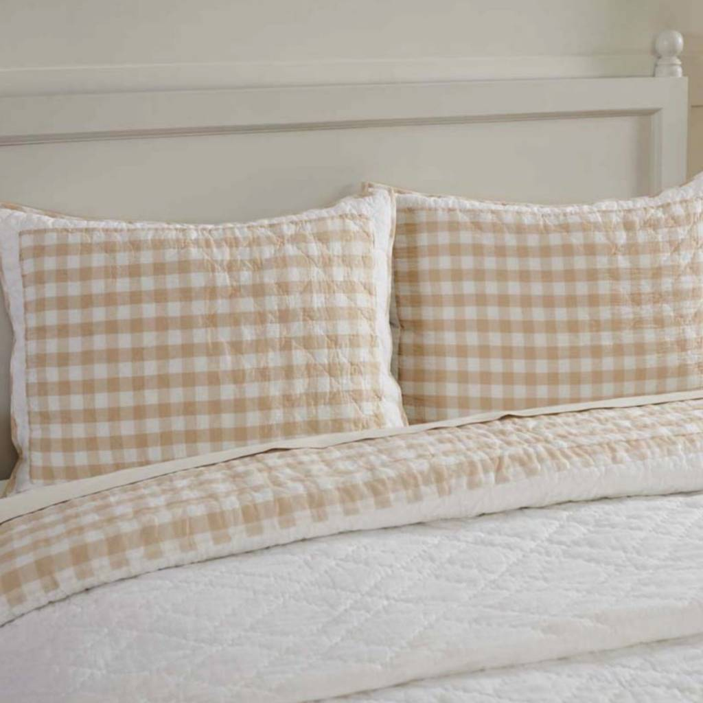 VHC Brands Annie Buffalo Check Pillow Shams Choose from 3 Colors