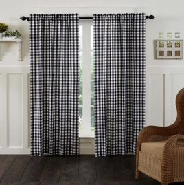 VHC Brands Annie Buffalo Check Lined Panel Set of 2   ---    Choice of 3 colors