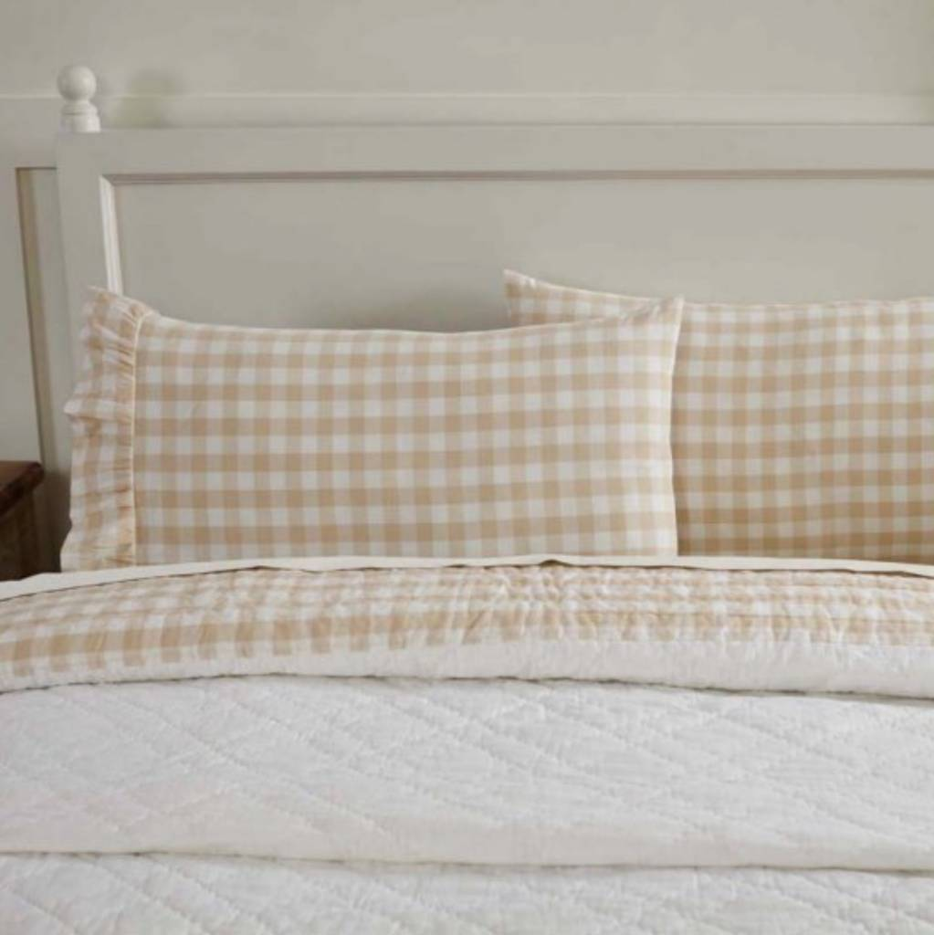 VHC Brands Annie Buffalo Check Pillow Case Set of 2