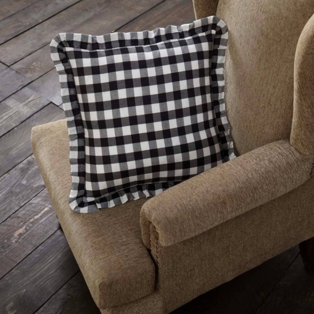 VHC Brands Annie Buffalo Check Fabric Pillow Choice of 3 Colors