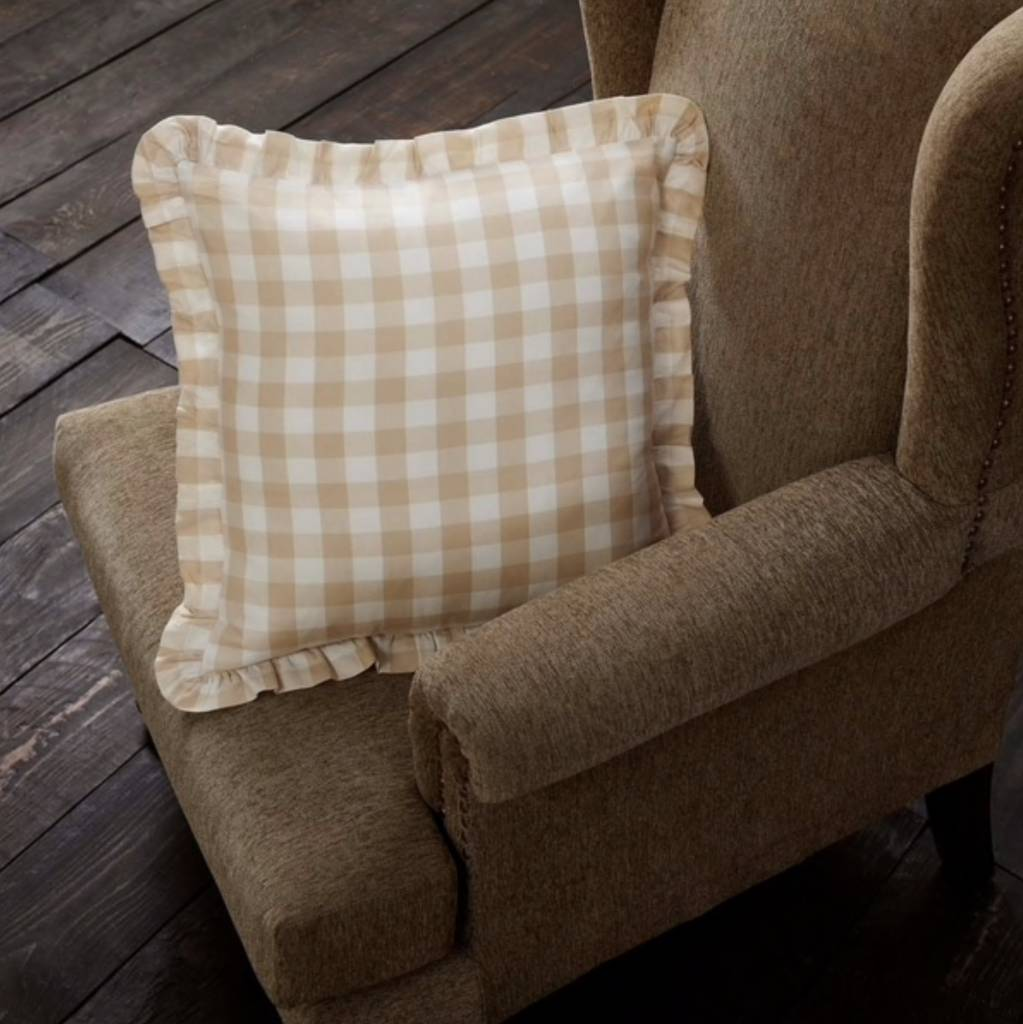 Annie Buffalo Check Fabric Pillow Choice of 3 Colors